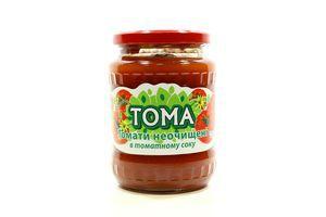 Томати ТОМА в томатному соку неочищені с/б 650г