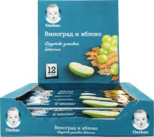 Батончик фруктово-злаковий для дітей від 12міс Виноград і яблуко Gerber м/у 25г