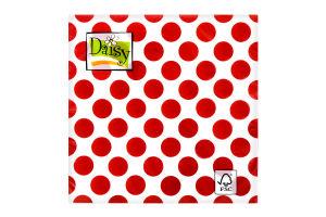 Салфетки Daisy с рисунком бумажная 3-слойная D-25