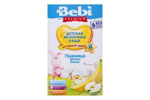 Каша молочна суха для дітей від 6міс Пшениця Яблуко Банан Premium Bebi к/у 250г