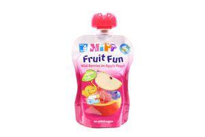 Пюре для детей от 4мес Яблоко-Персик-Черника-Малина Fruit Fun Hipp туб 90г