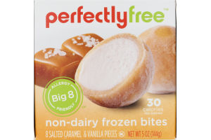 Incredible Perfectly Free Non-Dairy Frozen Bites Salted Caramel & Vanilla - 8 CT