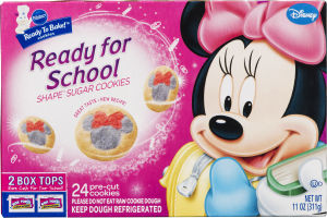 Pillsbury Ready to Bake! Ready for School Disney Shape Sugar Cookies - 24 CT