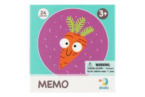 Игра настольная для детей от 3лет №300156 Фрукты и овощи Memo Dodo 1шт