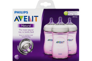 Philips Avent Feeding Bottle Natural (1m+) - 3 CT