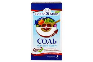Сіль Salute di Mare морська харчова Light 750г к/уп