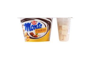 Десерт 13.1% молочний з шоколадом і лісовими горіхами+печиво Cookies Monte Zott 125г