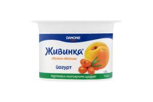 Живинка Йогурт 1,5% стакан 115г абрикос-обліпиха