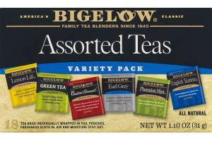 Bigelow Assorted Teas Variety Pack - 18 CT