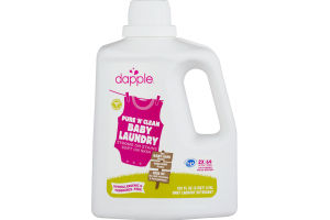 Dapple Naturally Clean Baby Laundry Detergent Hypoallergenic & Fragrance Free- 64 Loads