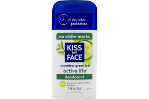 Kiss My Face Active Life Deodorant Cucumber Green Tea