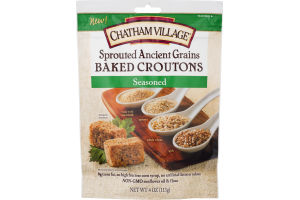 Chatham Village Sprouted Ancient Grains Baked Croutons Seasoned
