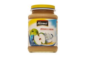 Пюре для дітей від 6міс Яблуко з сиром Hame с/б 190г