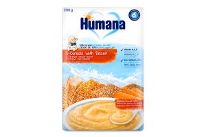 Молочная каша с печеньем сухая 5 злаков Humana к/у 200г