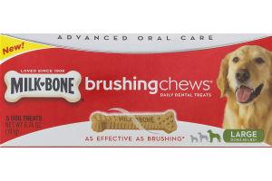 Milk-Bone Brushing Chews Daily Dental Dog Treats Large - 5 CT