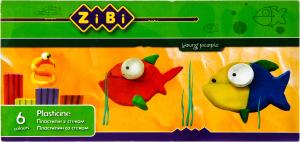 Пластилин детский 6 цветов за стеком ZiBi