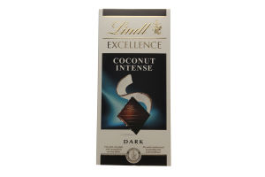 Шоколад темный Coconut Intense Excellence Lindt к/у 100г