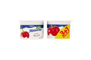 Йогурт 1.5% Вишня Живинка ст 4х115г