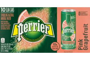Perrier Sparkling Natural Mineral Water Pink Grapefruit - 10 PK
