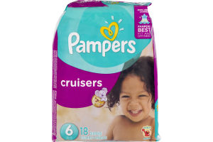 Pampers Cruisers Size 6 - 18 CT