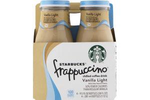 Starbucks Frappuccino Chilled Coffee Drink Vanilla Light - 4 PK