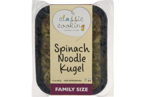 Classic Cooking Spinach Noodle Kugel Family Size