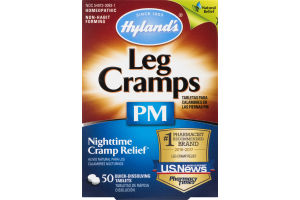 Hyland's Leg Cramps PM Nighttime Cramp Relief Dissolving Tablets - 50 CT