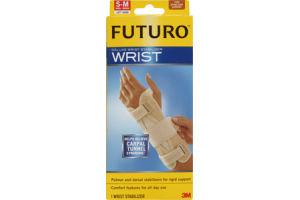 Futuro Wrist S-M Left Hand Firm Stabilizing Support Deluxe Wrist Stabilizer