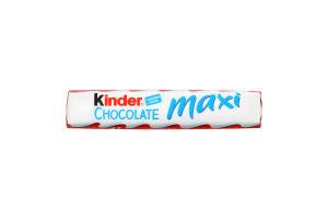 Шоколад молочний з молочною начинкою Maxi Chocolate Kinder м/у 21г