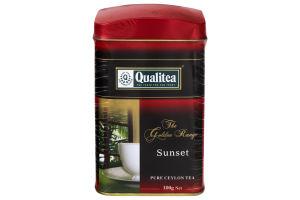 Чай черный крупнолистовой Sunset Qualitea ж/б 100г