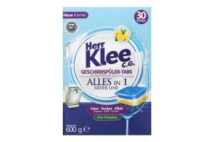 KLEE Таблетки д/посудомийних машин 30 шт