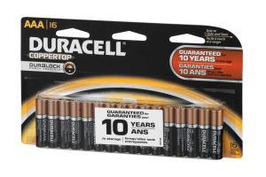 Duracell Coppertop Alkaline Batteries AAA - 16 CT