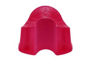 Горшок ночной для детей 18-36мес розовый Комфорт Утенок Keeeper 1шт