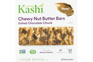 Kashi Chewy Nut Butter Bars Salted Caramel Chocolate Chunk - 5 CT