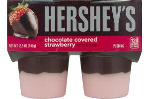 Hershey's Pudding Chocolate Covered Strawberry - 4 CT
