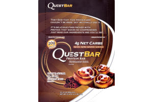 QuestBar Protein Bar Cinnamon Roll - 12 CT