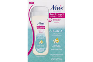 Nair Hair Remover Pro-Strength Easy Roll-On Wax Moroccan Argan Oil