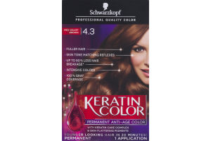 Schwarzkopf Keratin Color Permanent Anti-Age Hair Color 4.3 Red Velvet Brown