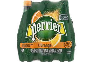 Perrier L'Orange Sparkling Natural Mineral Water - 6 CT