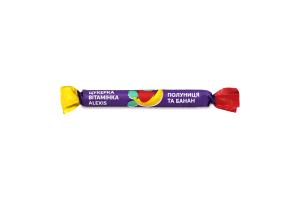 Пастила фруктовая клубника-банан Конфета витаминка Alexis м/у 17г