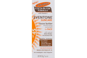 Palmer's Cocoa Butter Formula Eventone Suncare Moisturizing Sunscreeen For Face SPF 45