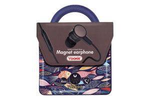 Навушники чорні YK1000 Yookie 1шт