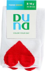 Шкарпетки для підлітків Duna №9003 22-24 білий