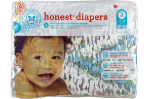 The Honest Co. Honest Diapers Tropical Frogs Size 4 - 29 CT