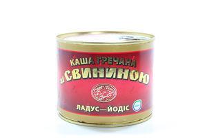Каша Ладус гречана зі свининою ж/б 525г х24