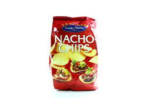 Кукурузные чипсы Nacho Chips Santa Maria м/у 200г