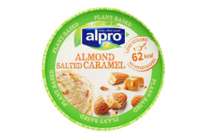 Морозиво 8% на рослинно-мигдальній основі Almond Salted Caramel Alpro відро 340г