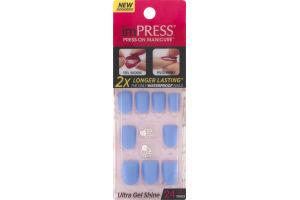 ImPRESS Press-On Manicure Ultra Gel Shine Gel Nails Kiss & Tell - 24 CT