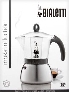 Кофеварка Bialetti MokaInduct гейз бел 6чаш 0.36л