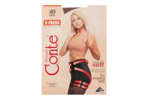 Колготки жіночі Conte X-press 40den №2 bronz